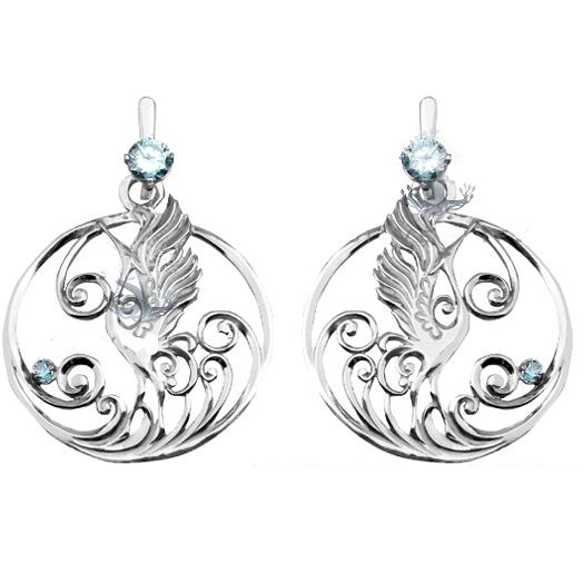 Серебряные серьги Узор Утум на Shop.JewelGold.ru