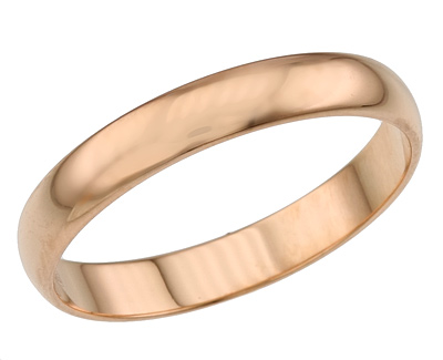 Классическое обручальное кольцо на Shop.JewelGold.ru