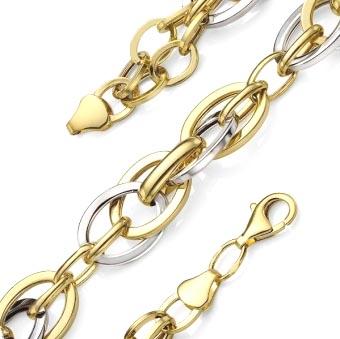 Золотой браслет полый Shop.JewelGold.ru