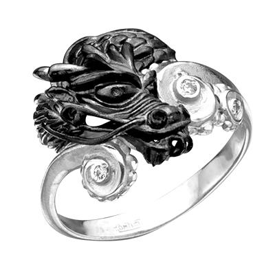 олотое кольцо с бриллиантами ВОДЯНОЙ ДРАКОН