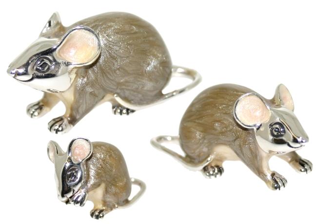 Статуэтки из серебра Крысы