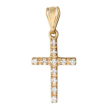 Подвеска крестик золотой