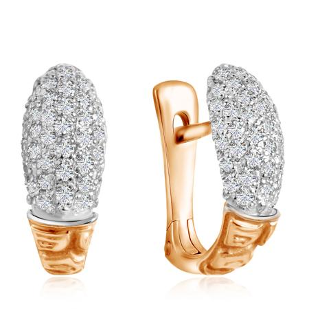 Золотые серьги с фианитами на Shop.JewelGold.ru
