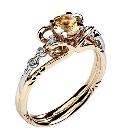 Золотое кольцо с бриллиантами Shop.JewelGold.ru