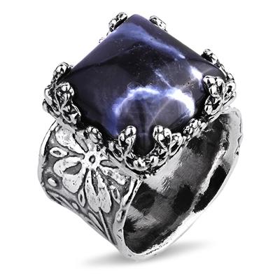 Серебряное кольцо Yaffo с содалитом