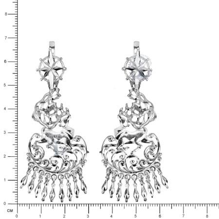 Серебряные серьги Узор Утум CH123