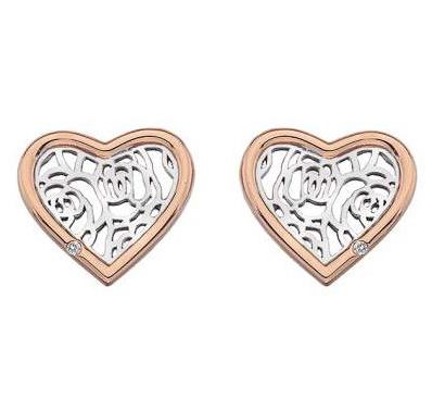 Серебряные серьги пуссеты Hot Diamonds с бриллиантом