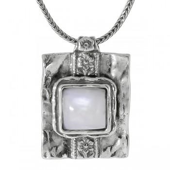 Колье Deno из серебра с лунным камнем